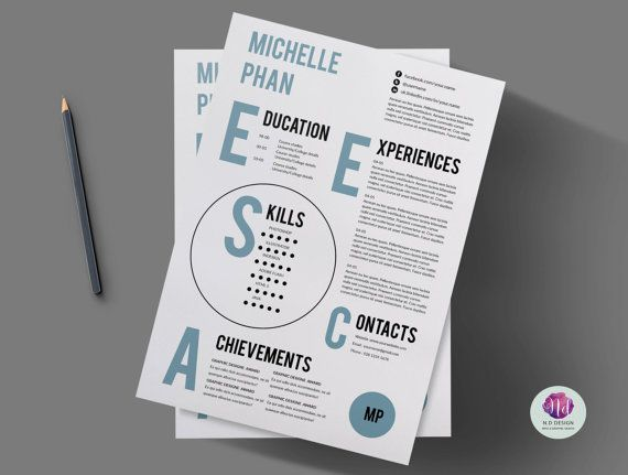 1 page CV template / resume template , cover letter template
