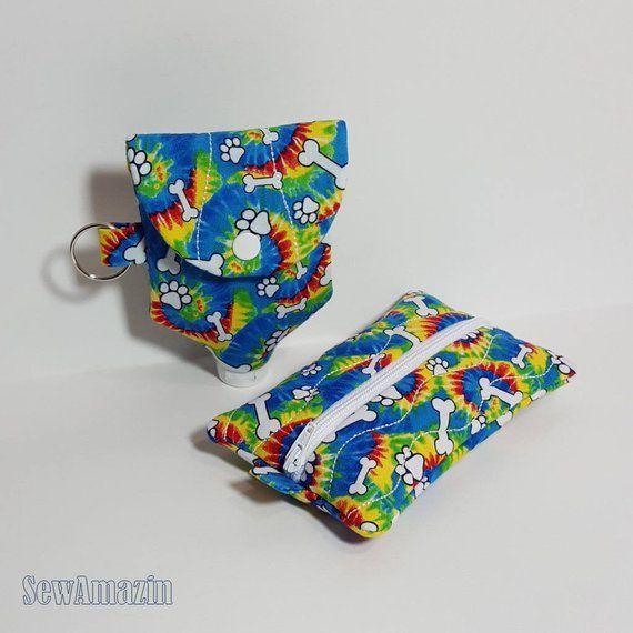 Pocket Travel Tissue And Sanitizer Holder With Back Pocket