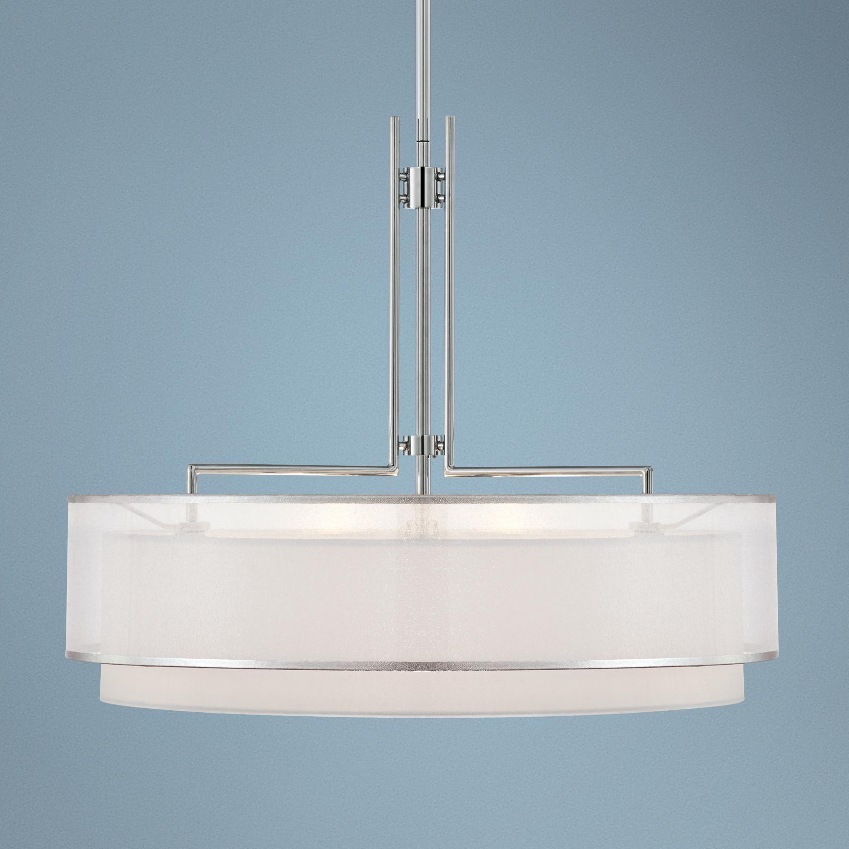 possini euro design lighting. Possini Euro Design Double Organza Pendant Chandelier - Lighting