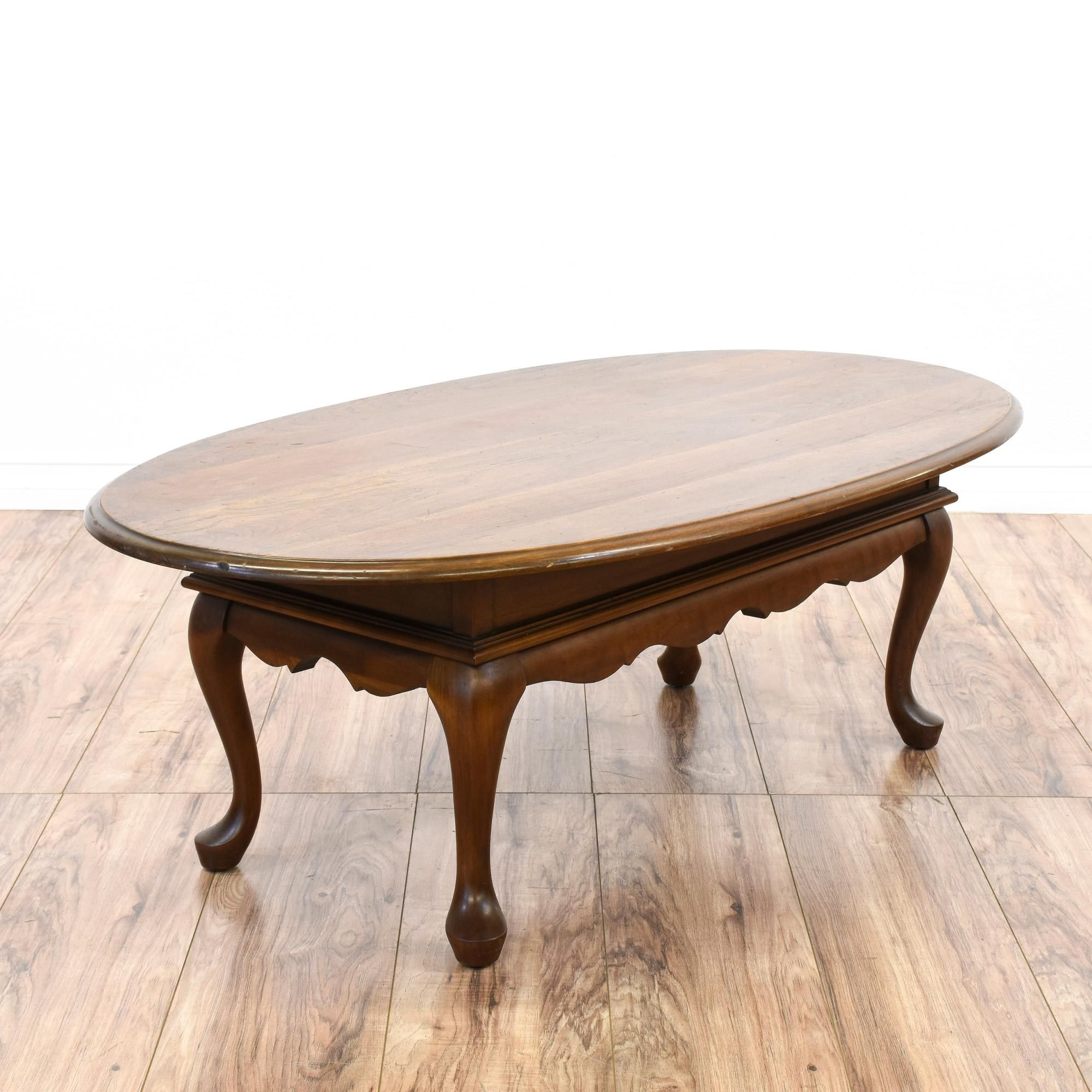 oval queen anne coffee table | oval coffee tables, oval table and