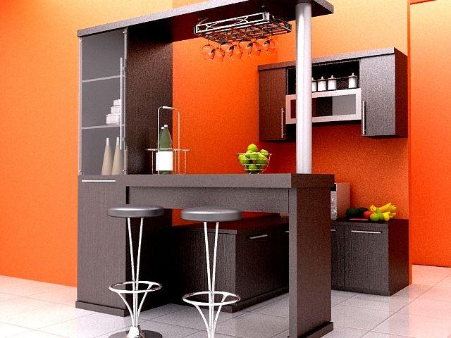 Meja Bar Di Dapur Rumah Sedehana Gambar 4