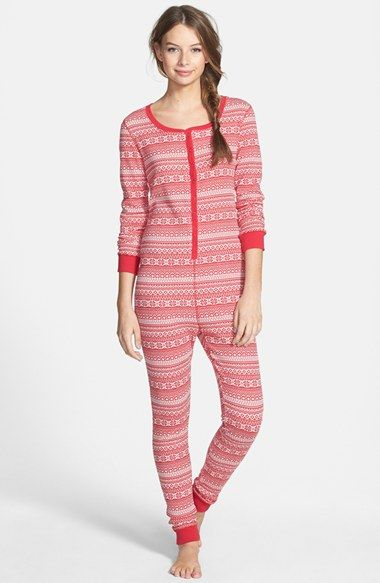 undercover free spirit fair isle print thermal jumpsuit juniors available at nordstrom