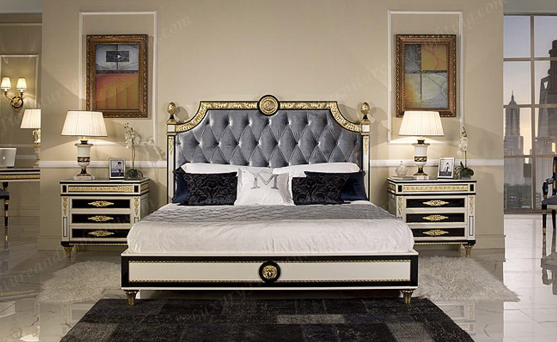 Wellington Black and White Luxury Bedroom Series  Luxury
