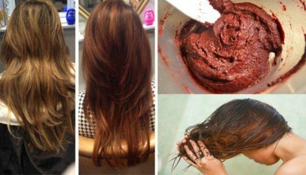 Couleur de cheveux fait maison