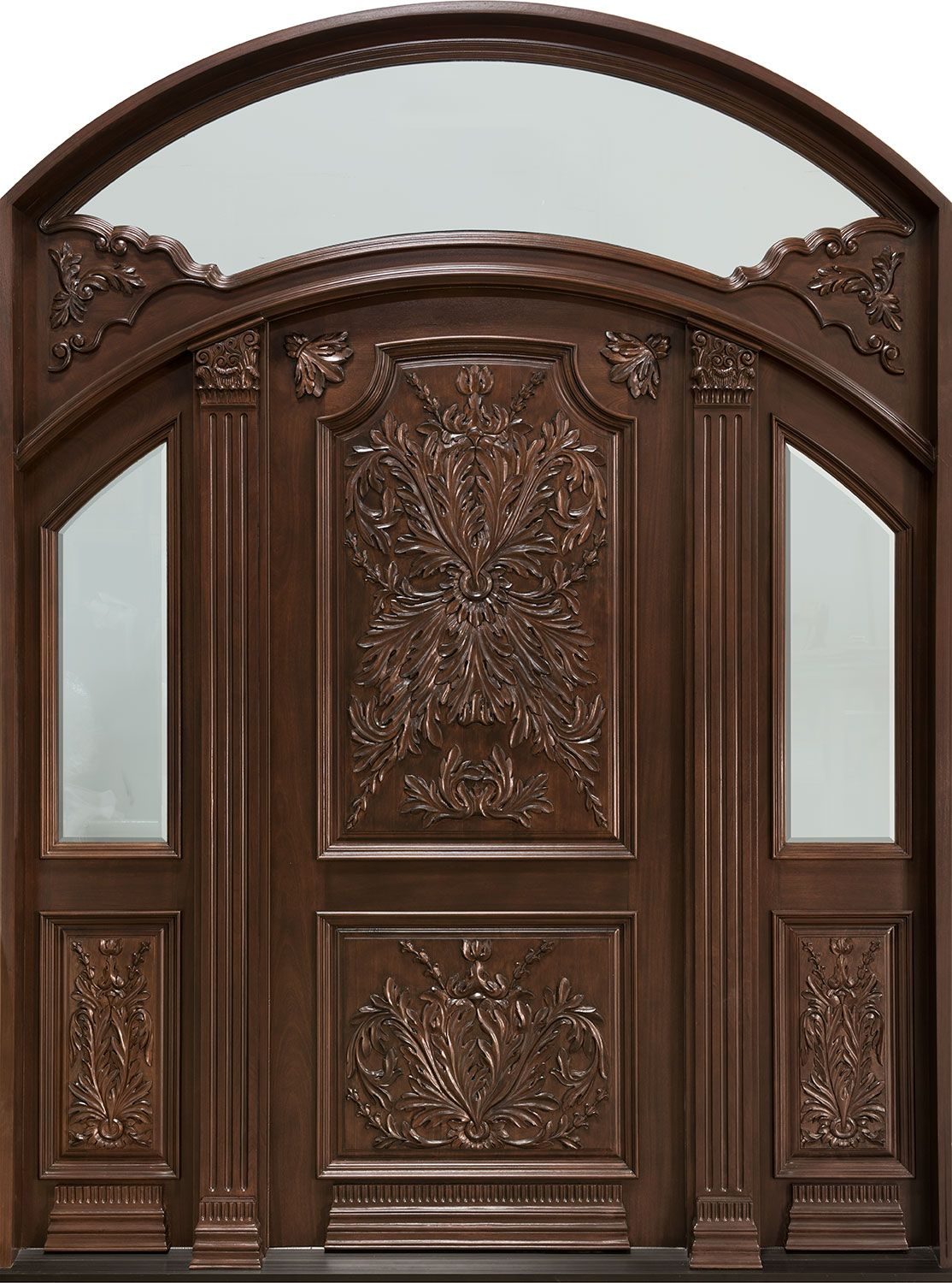 Front Door Custom - Double - Solid Wood with Walnut Finish Heritage Model DB  sc 1 st  Pinterest & Front Door Custom - Double - Solid Wood with Walnut Finish Heritage ...
