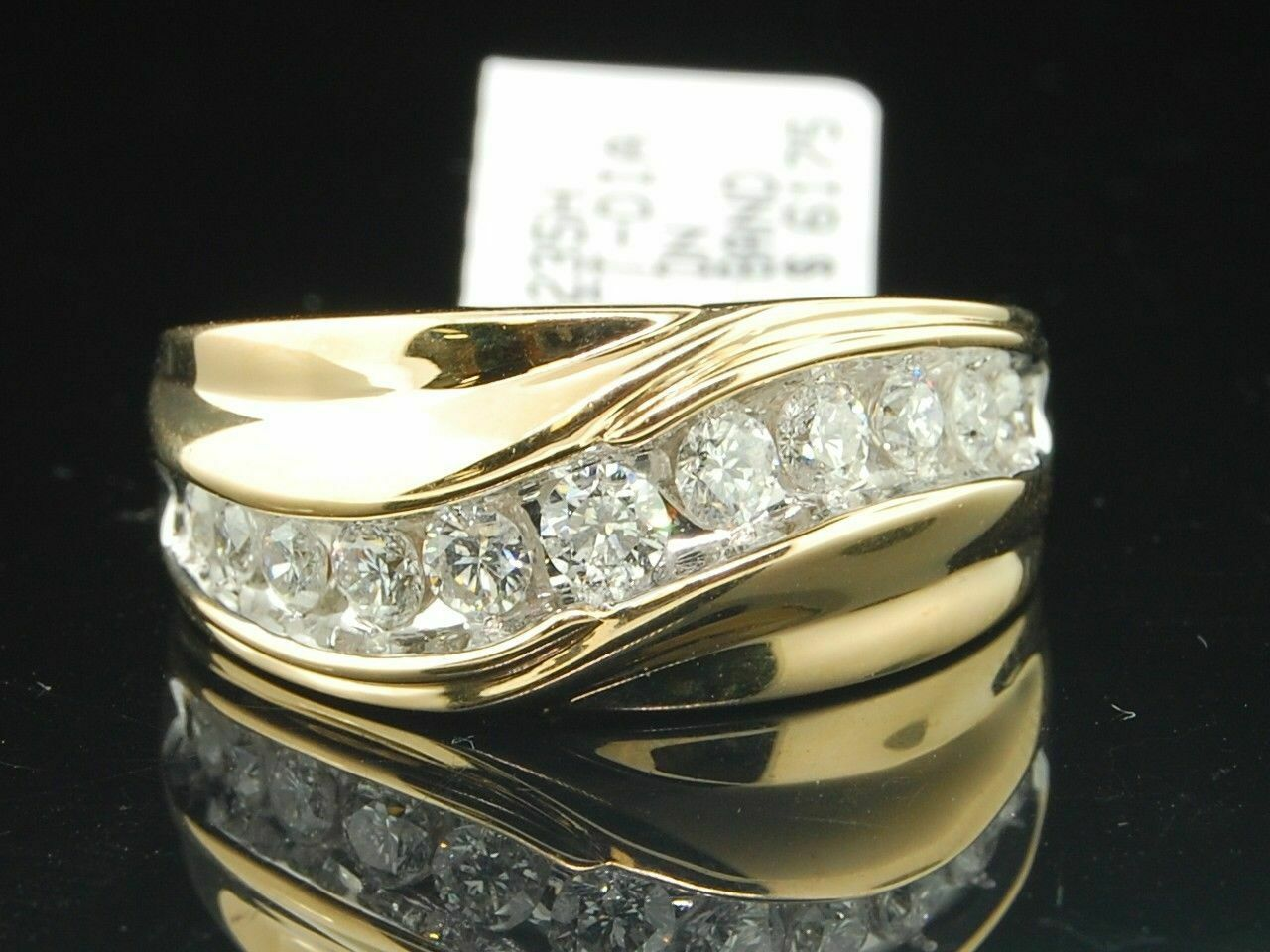 0.50 Ct Round Cut Simulated Diamond Seven Stone Wedding Band 14K White Gold Plated