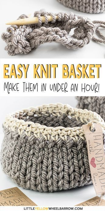 Free DIY Basket Pattern you can Knit up in a Flash - Welcome to Blog