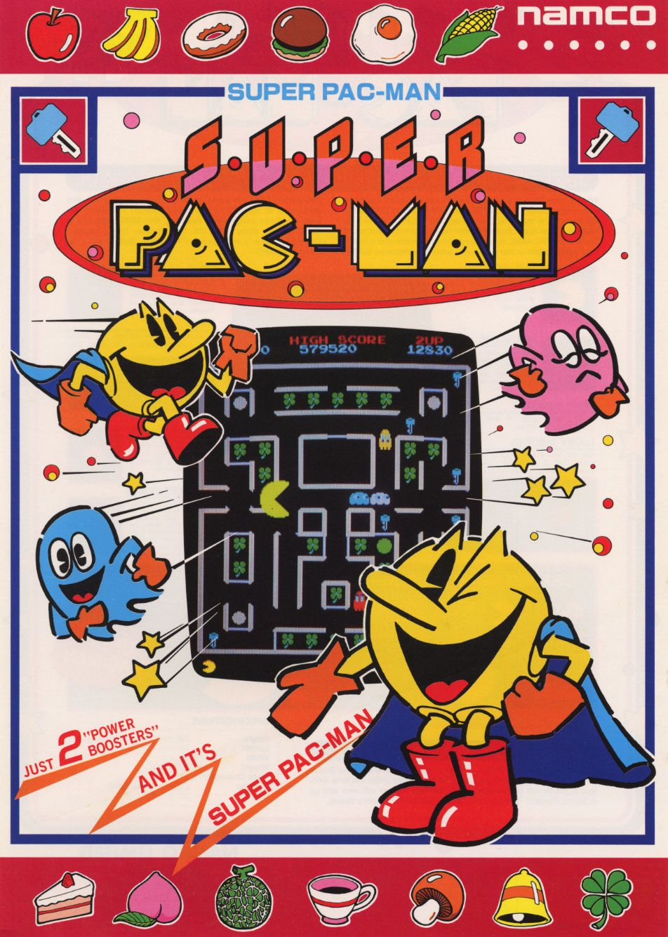 Old I Love Pac Man Video Game Midway Mfg Co Advertising Bumper Sticker UNUSED