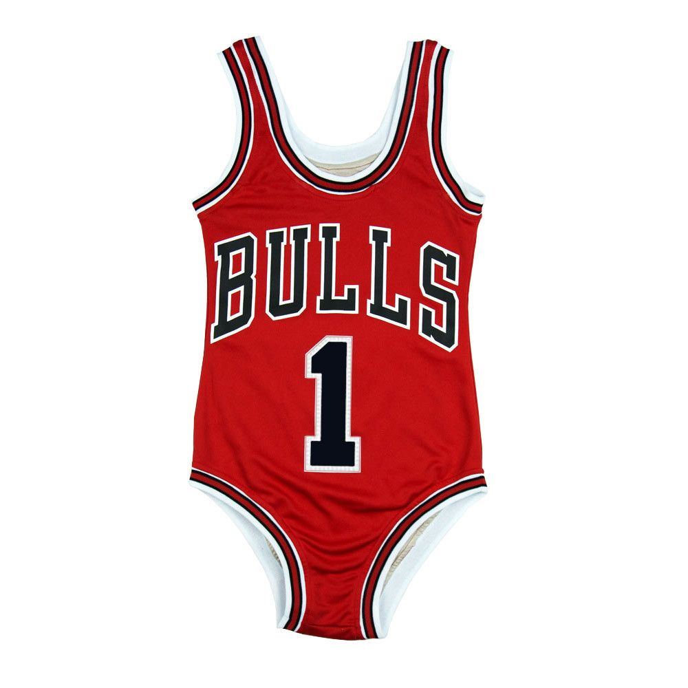 abdc245e787 Swimwear- Bulls Basketball jersey for women. The Red Rose by JERSEYSUITS