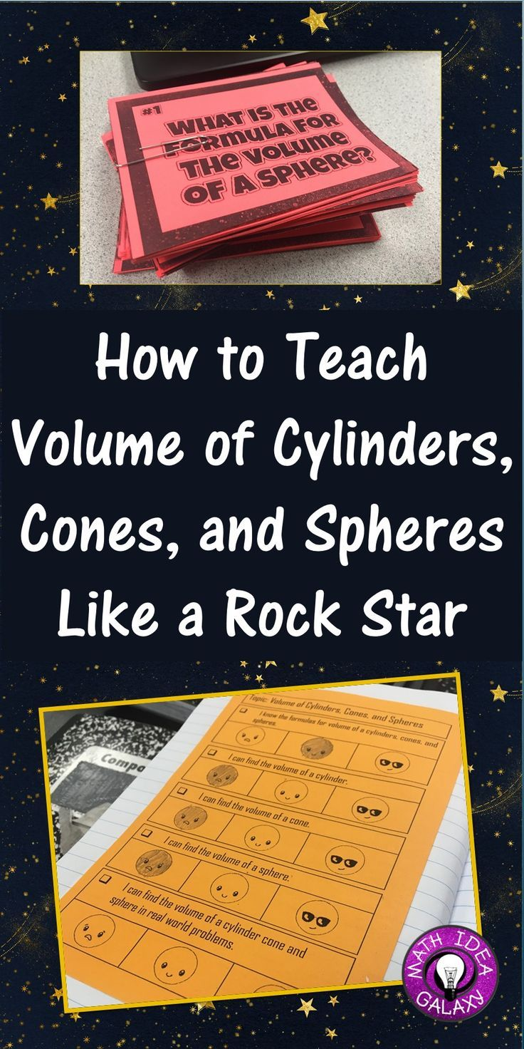 How To Teach Volume Of Cylinders Cones And Spheres Like A Rockstar Learning Math Math Interactive Notebook 8th Grade Math
