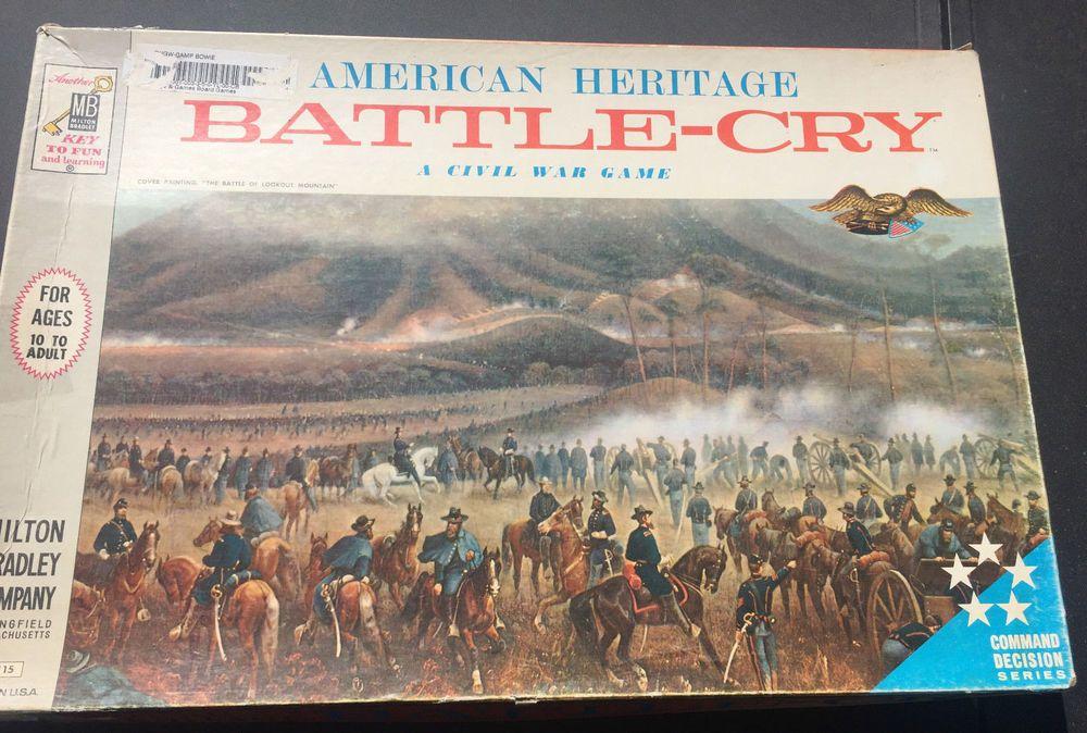 BattleCry Vintage Board Game MB Milton Bradley 1961