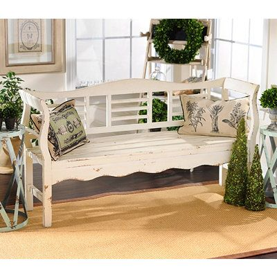 Superb Distressed White Wood Bench Home Decor Home Decor Gmtry Best Dining Table And Chair Ideas Images Gmtryco