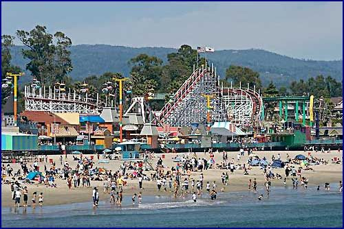 Santa Cruz Main Beach And Boardwalk Ca Usa