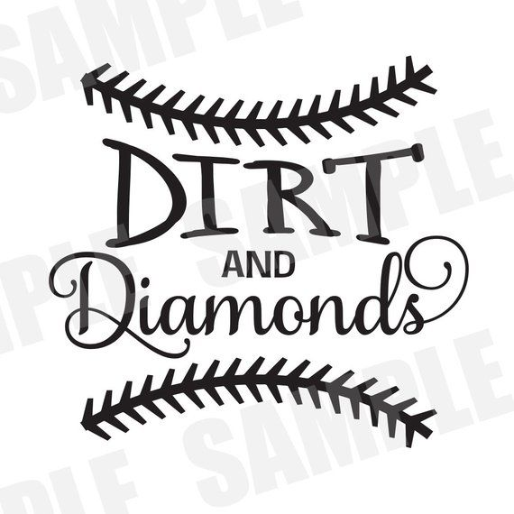 SVG Commercial/Personal Use Baseball Softball Dirt and