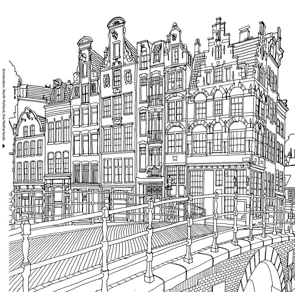 Book Preview Fantastic Cities By Steve Mcdonald Fantastic Cities Coloring Book Coloring Books Coloring Pages