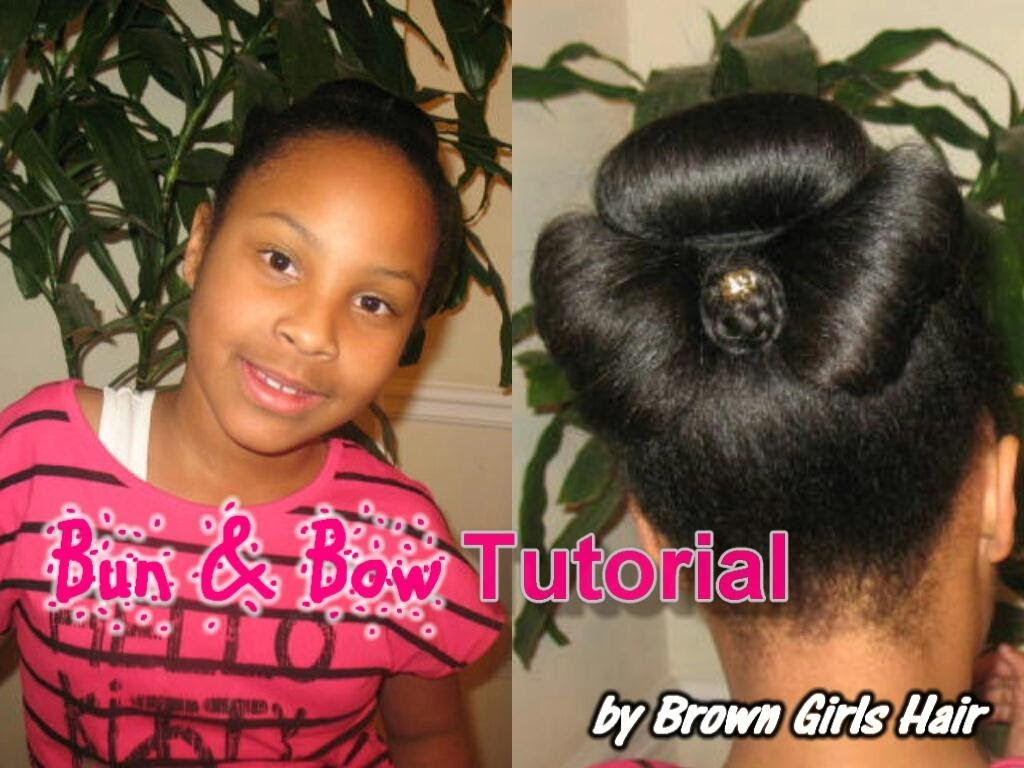 Natural Bun Bow Updo Hairstyle Tutorial Natural Hair Bun Styles Updo Hairstyles Tutorials Easy Hair Updos