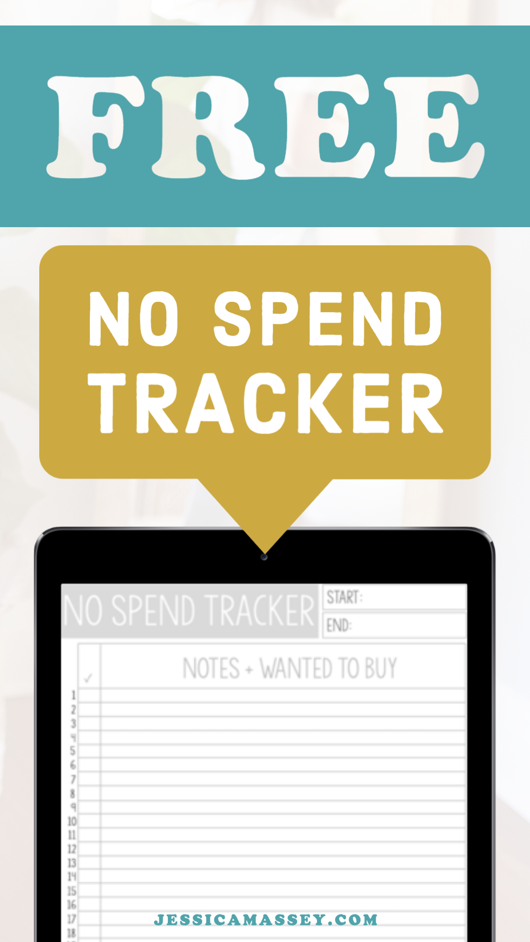 Get This Free No Spend Tracking Worksheet Printable Or Add