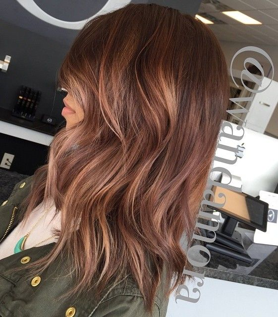 rosewood hair with highlights balayage haare in kupfer. Black Bedroom Furniture Sets. Home Design Ideas