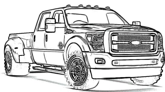 Ford F250 Coloring Pages Coloring Page
