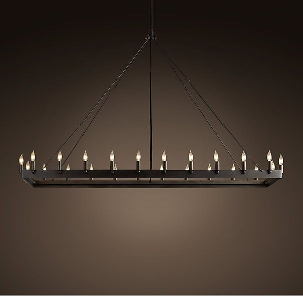 camino rectangle chandelier large chandeliers restoration hardware