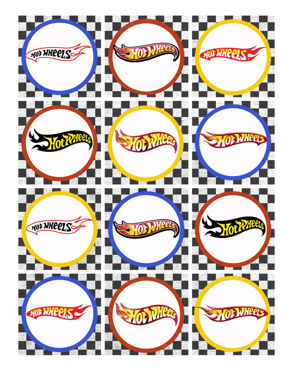 Hot wheels birthday party pack free printables cumples pinterest