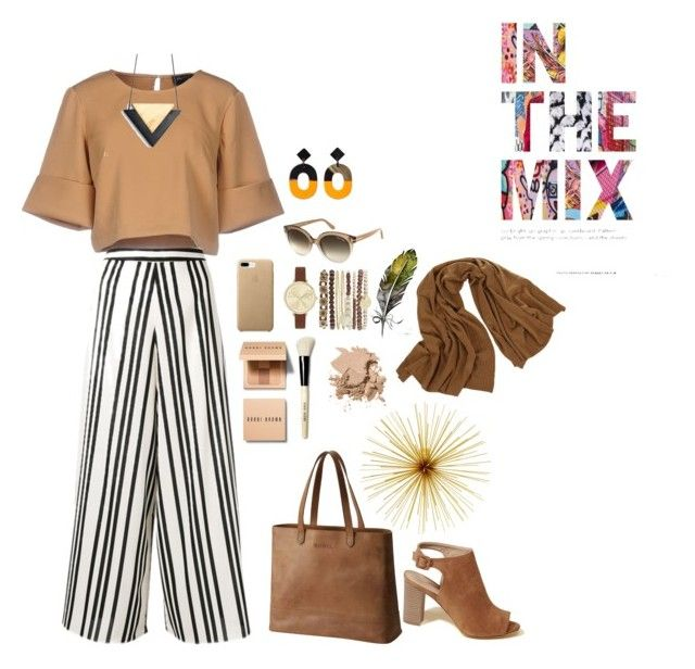 """brown"" by alikamursyid18 ❤ liked on Polyvore featuring The Fifth Label, Alice + Olivia, Hollister Co., SOREL, Tom Ford, Jessica Carlyle, Bobbi Brown Cosmetics and JAG Zoeppritz"