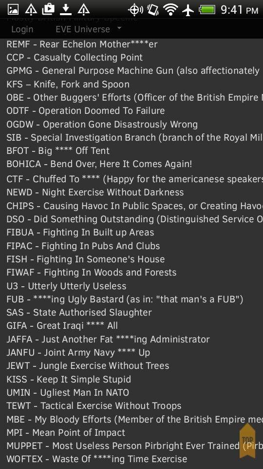 British Military Slang Military Slang Army Humor British Army Humour