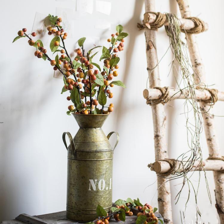 Flower Pot Vintage Metal Milk Can Style Number Rusticreach Flower Pots Handmade Flower Pots Making Plant Pots