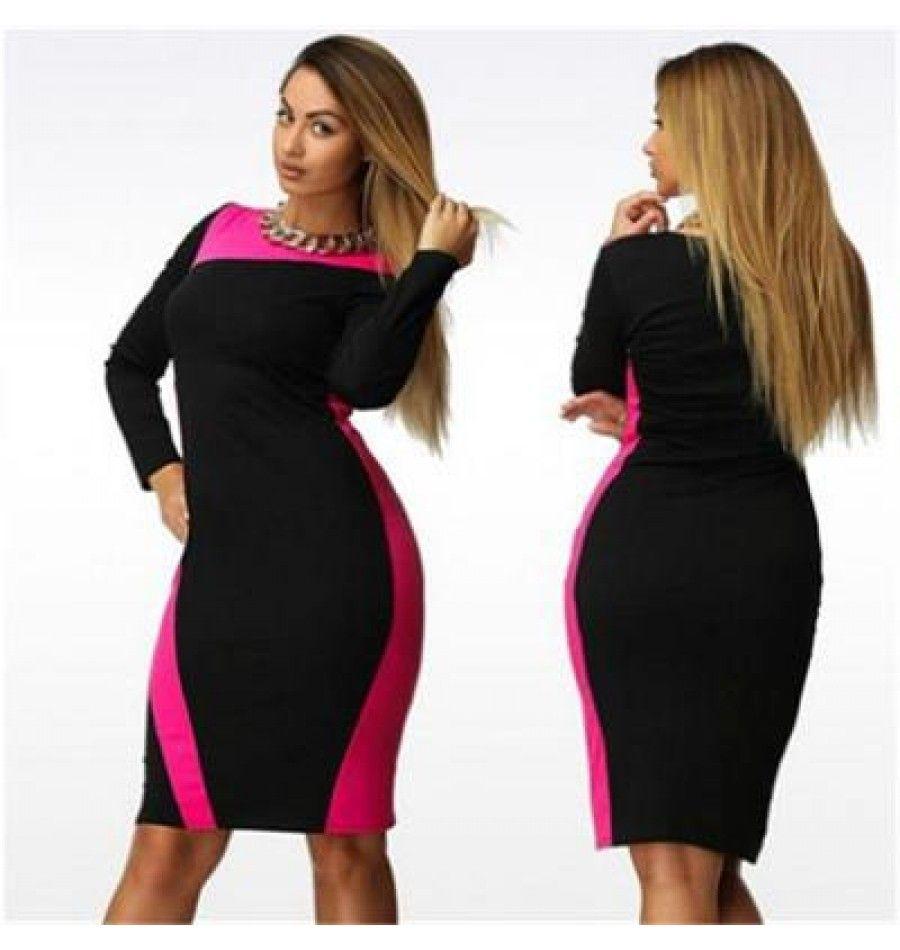 frühling / sommer kleid in schwarz pink   kleider für