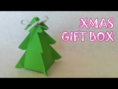 Christmas Tree Gift Box Origami Easy Youtube Origami Weihnachten Gebastelte Weihnachtsdekoration Geschenke