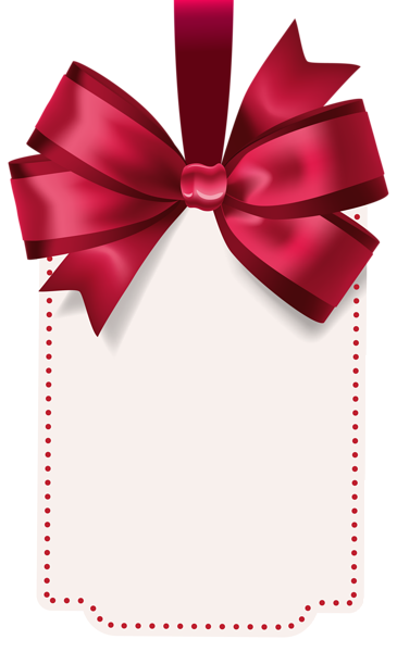 Label with Red Bow Template PNG Clip Art Image Modelo de