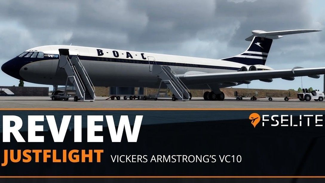 This FSX/P3D VC10 add-on provides the Type 1101 (BOAC