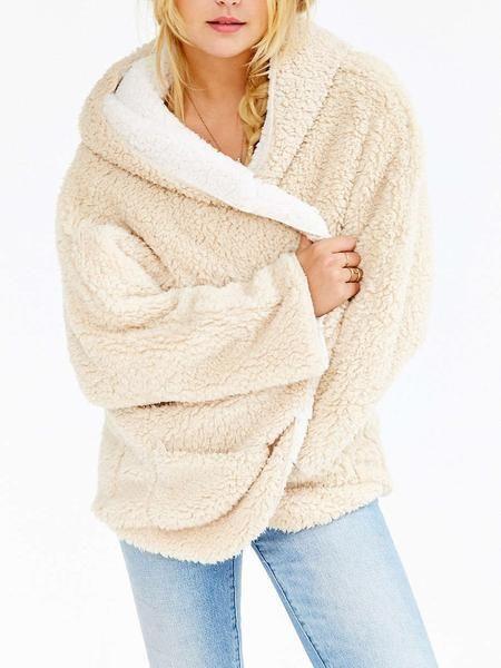 c79bb75296c35 Burgundy Reversible Faux Fur Hooded Coat - MYNYstyle - 4