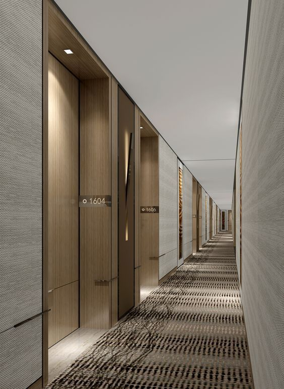 Pin by on design hotel corridor for Hotel corridor decor