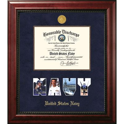 PATF Navy Discharge Executive Picture Frame