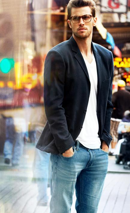 Fall   Winter - Spring   Summer - street style - casual style - black  blazer + white v neck t shirt + black belt + jeans a05fe1cbae