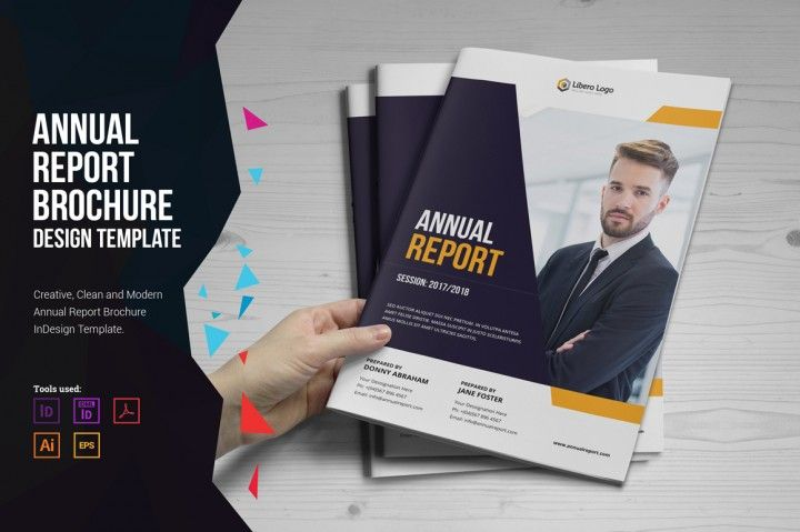 This is Annual Report Design was created For Annaul Report - financial report template