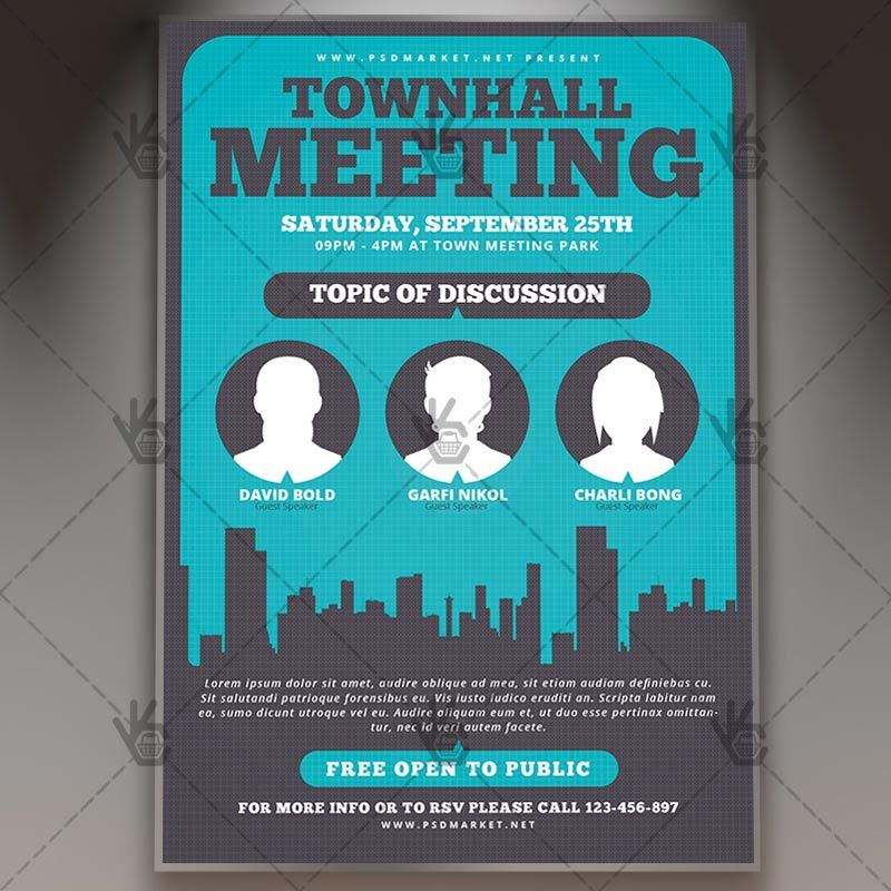 Community Meeting  Premium Flyer Psd Template Conference
