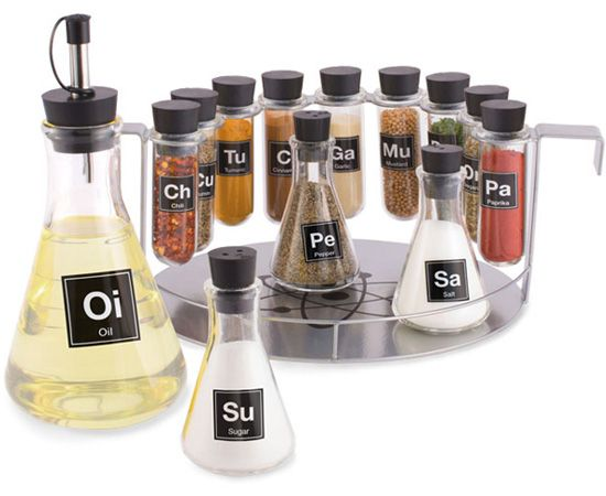 Spice Rack Chemistry Set... this may be the only chemistry set I'd be allowed to play with