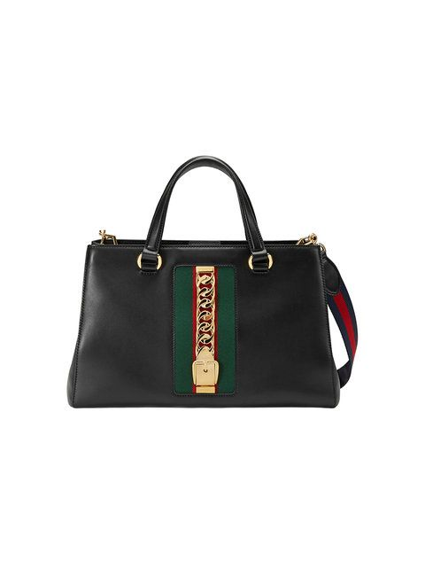 7b077cb3bc22 GUCCI Sylvie Leather Top Handle Bag.  gucci  bags  shoulder bags  hand