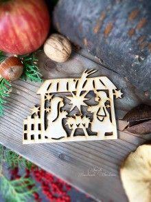 Dekorácie - Vianočný výrez Betlehem (C4) - 7135264_