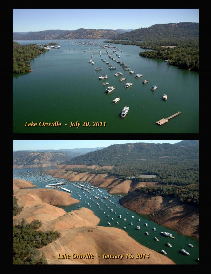 Lake Oroville Northern California The Drought Of 2014