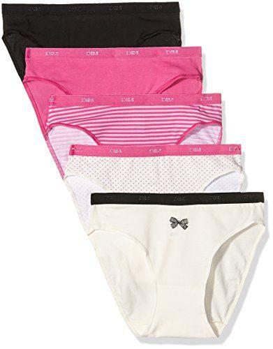 Dim – Les Pockets Coton – Slip – Lot de 5 – Femme  Lot de 5 culottes ... f78625dcf32