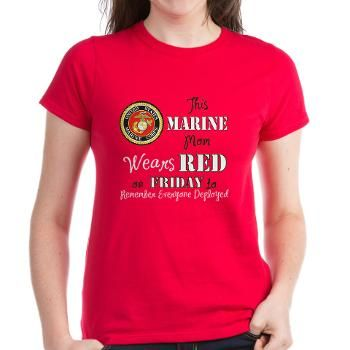 d5385fc2 Marine Mom Red Friday T-Shirt | Marines | T shirts for women, Shirts ...