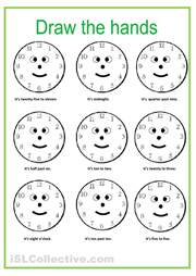Draw the hands on the clock and match the time great esl worksheet draw the hands on the clock and match the time great esl worksheet for learning to tell the time ibookread ePUb