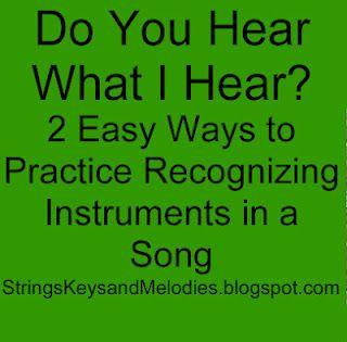 2 easy ways to practice recognzing instruments in a song