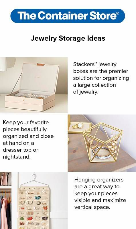 Closets and counter tops are popular places to store jewelry but