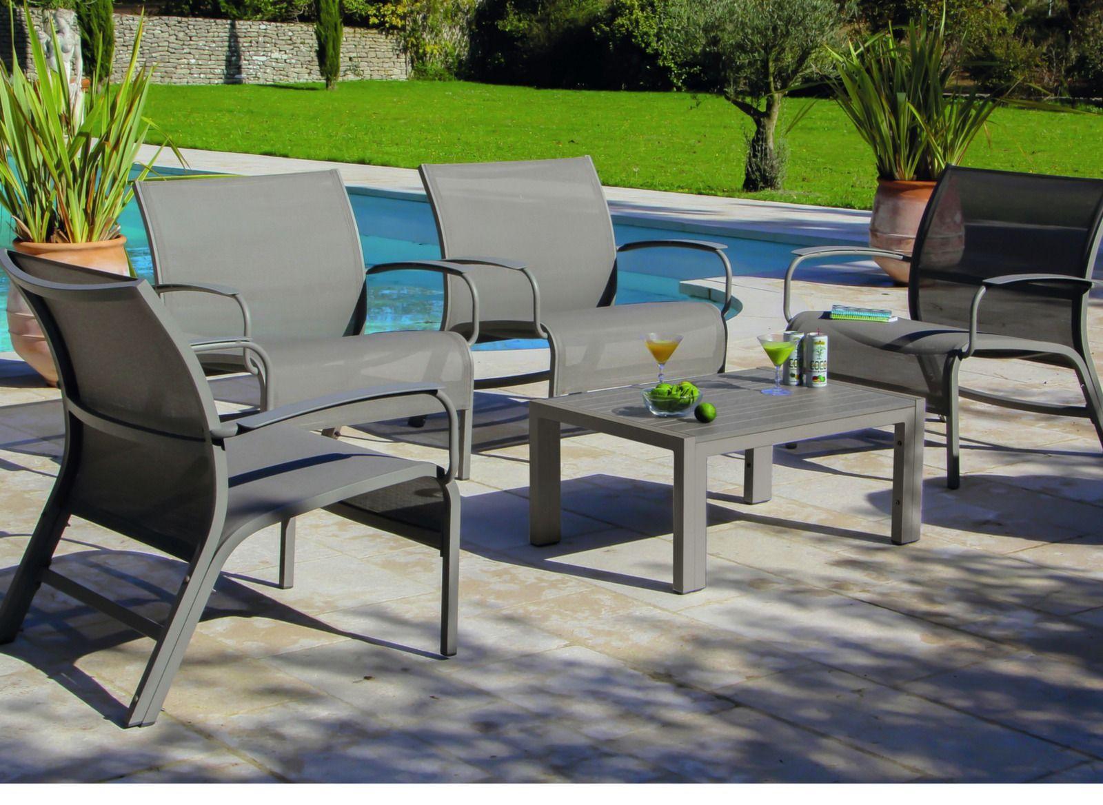 Salon de jardin en aluminium linéa proloisirs - Maison mobilier et ...