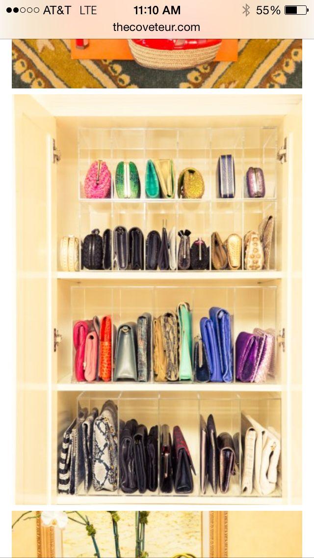 Purses Closet Schrank Organisation Aufbewahrung Handtaschen Aufbewahrung
