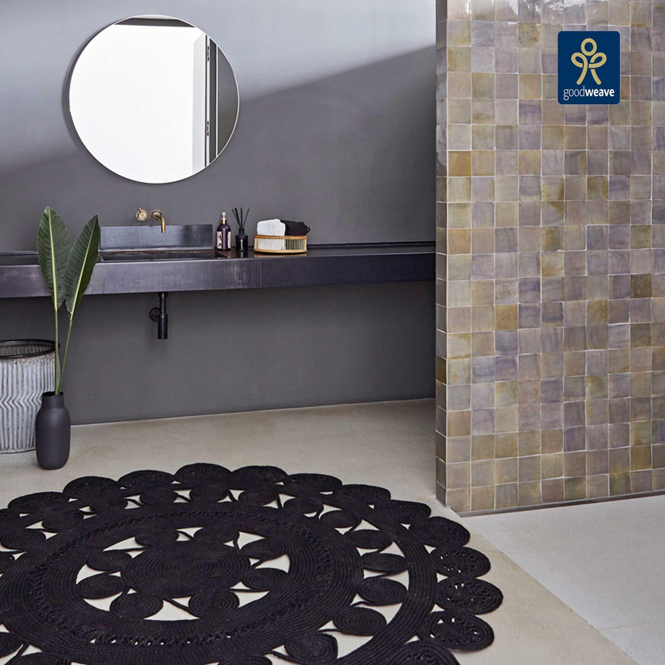 Mandala Outdoor Teppich Aus Recyceltem Pet 200 Cm Runder Teppich In 2020 Outdoor Teppich Teppich Design Mandala Teppich